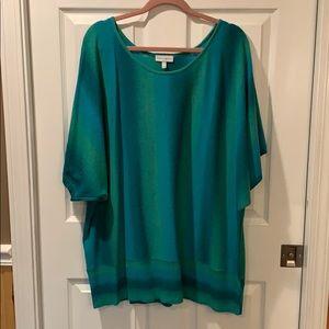 Fashion Bug Teal & Blue Sweater Top